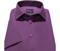 Herren Hemd Slim Fit Popeline pflaume violett