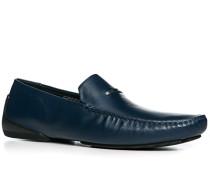 Herren Schuhe Mokassins, Kalbleder, dunkelblau