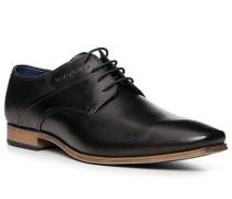 Herren Schnürschuhe, Leder, schwarz
