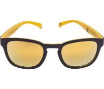 Herren Brillen adidas, Sonnenbrille, Kunststoff, schwarz-gelb
