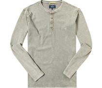 Herren Henley-Shirt Baumwolle schilfgrün