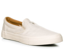 Herren Schuhe Loafers, Canvas, creme beige