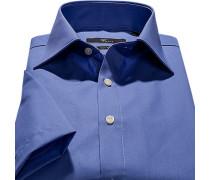 Herren Hemd, Slim Fit, Popeline, blau