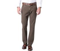 Herren Jeans Baumwoll-Stretch braun