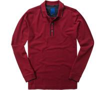 Herren Polo-Shirt Regular Fit Baumwolle rot