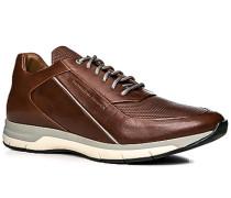 Herren Schuhe Sneaker Leder kastanienbraun braun,braun