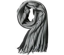 Herren  Schal Wolle schwarz-grau gestreift grau,schwarz