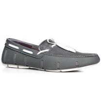 Herren Schuhe Loafer, Kautschuk, grau