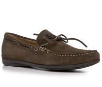 Herren Schuhe Mokassins Veloursleder braun