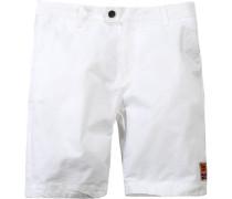 Herren Hose Shorts, Baumwolle, weiß