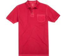 Herren Polo-Shirt, Body Fit, Baumwolle, rot