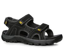 Herren Schuhe Sandalen, Textil, schwarz