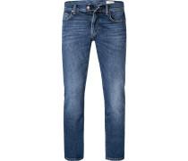 Jeans Slim Fit Baumwolle-Kaschmir mittel