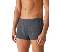 Herren Unterwäsche Trunk, Baumwoll-Stretch, marineblau-weiß gepunktet