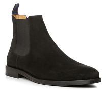 Herren Schuhe Chelsea Boots Veloursleder schwarz beige