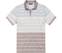 Polo-Shirt Baumwolle -bleu gestreift