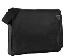 Herren  strellson Messenger Bag Leder schwarz