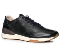 Herren Schuhe Sneaker, Rindleder, nachtblau