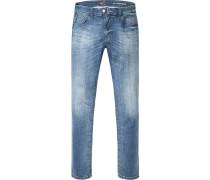 Herren Jeans Regular Fit Baumwoll-Stretch jeans