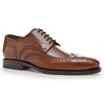 Herren Schuhe Budapester Kalbleder cognac braun