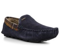 Herren Schuhe Mokassin Velourleder navy