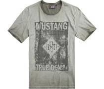 Herren T-Shirt Baumwolle taupe beige