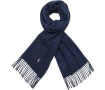 Damen Schal, Schurwolle, blau meliert