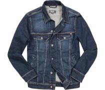 Herren Jacke Jeans jeansblau