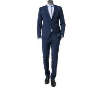 Anzug Extra Slim Fit Schurwolle Super100 dunkel