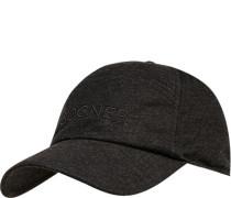 Herren Cap, Microfaser, grau meliert