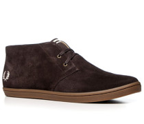 Herren Schuhe Desert Boots Veloursleder kaffebraun