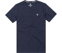Herren T-Shirt, Baumwolle, navy blau