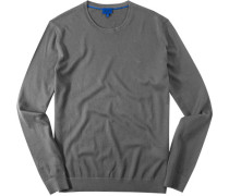 Herren Pullover Seiden-Mix meliert