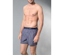 Herren Unterwäsche Boxershort Baumwolle blau gestreift