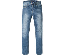 Herren Jeans, Regular Comfort Fit, Baumwolle, jeansblau
