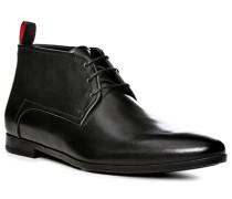 Herren Schuhe Desert Boots, Glattleder, schwarz