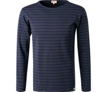 T-Shirt Longsleeve Baumwolle  gestreift