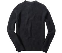 Herren Pullover Wolle-Baumwoll-Mix schwarz
