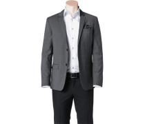 Herren Sakko Fitted Wolle Super100 grau meliert