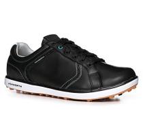 Herren Golfschuh Leder schwarz