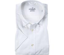 Herren Hemd, Comfort Fit, Popeline, weiß