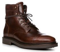 Herren Schuhe Stiefeletten, Rindleder, braun
