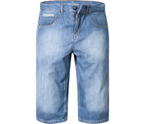 Herren Jeans-Bermudas Baumwolle hellblau