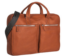Herren Aktentasche Leder cognac orange