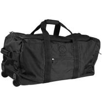 Herren Reisetasche mit Rollen, Microfaser, schwarz