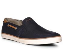 Herren Schuhe Slipper, Textil, navy blau