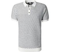 Polo-Shirt Woll-Strick -schwarz