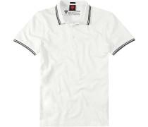 Herren Polo-Shirt, Slim Fit, Baumwolle, wollweiß