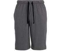 Herren Schlafanzug Sweatshort, Baumwolle, grau