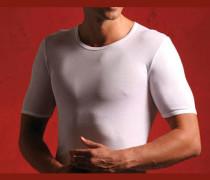 Herren T-Shirt Mako Baumwolle weiß